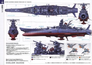 YAMATO Space Battleship 2202 Final Battle Specifications Space 1//1000 BANDAI F//S