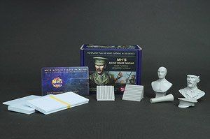 MH`s Acrylic Figure Painting Tutorial Movie in USB [Full set] w/Major of British Cavalry in WW1 Bust (Plastic model)