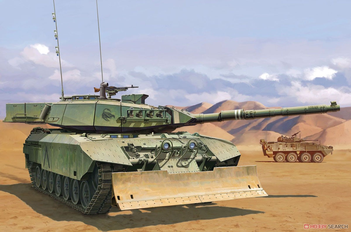 Canadian Main Battle Tank Leopard C2 MEXAS w/Dozer Blade (Plastic model) Other picture4