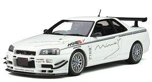日産 スカイライン R34 GT-R マインズ (ホワイト) (ミニカー)