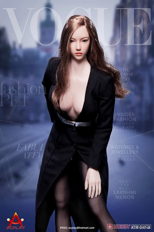 Deep V Neck Dress Black (Fashion Doll) Other picture3