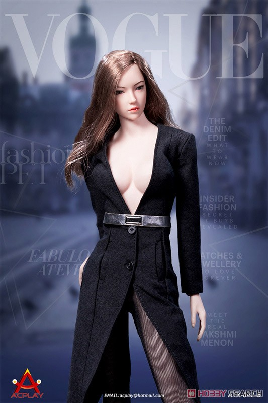 Deep V Neck Dress Black (Fashion Doll) Other picture4