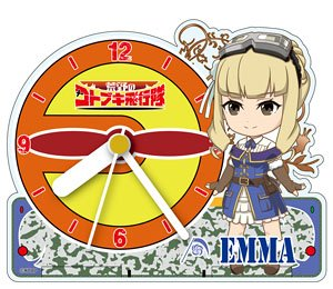Kotobuki Squadron of the Wilderness Acrylic Table Clock [Emma] (Anime Toy)