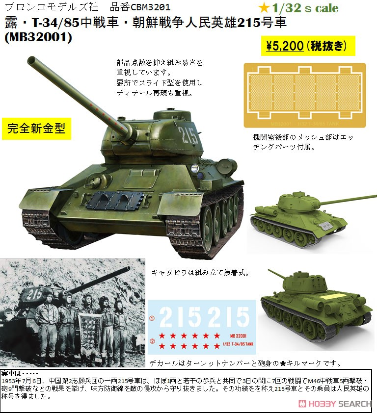Soviet T-34/85 Midium Tank Korean War People`s Heroes No.215 (Plastic model) Other picture1
