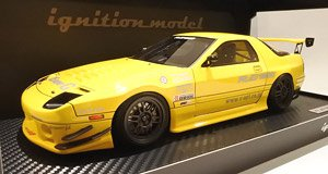 Mazda RX-7 (FC3S) RE Amemiya Yellow (ミニカー)