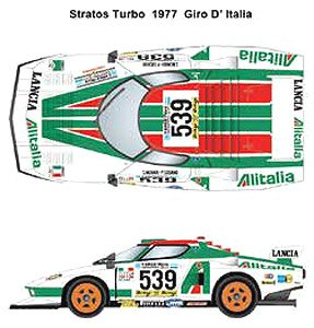 Stratos Turbo #539 Giro D` Italia 1977 (デカール)