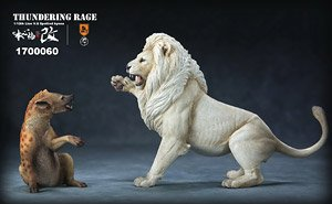 Lion VS Hyena Statu Light Color (Fashion Doll)