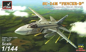 Su-24 `Fencer-D` Soviet Supersonic Attack Aircraft (Plastic model)