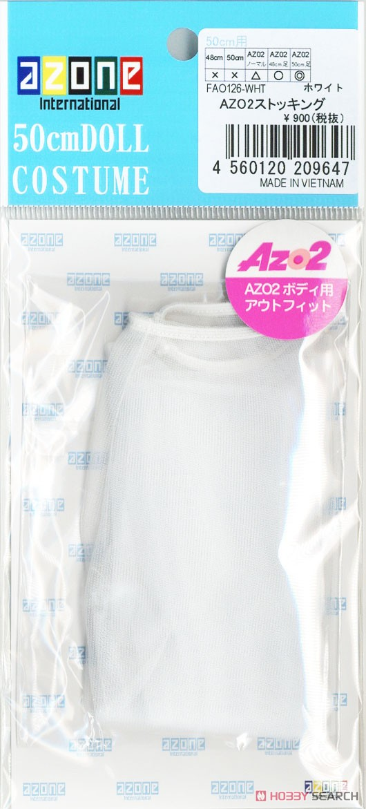 AZO2 Stockings (White) (Fashion Doll) Item picture2