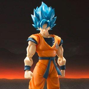 S.H.Figuarts Dragon Ball Z Super Son Gokou Blue Hair Saiyan Figure Toy Gift