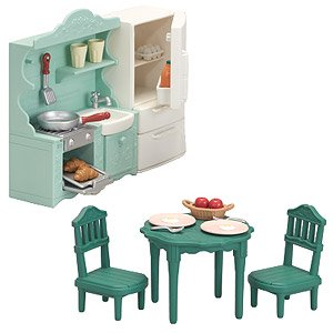 Sylvanian Families Furniture dining table set From Japan