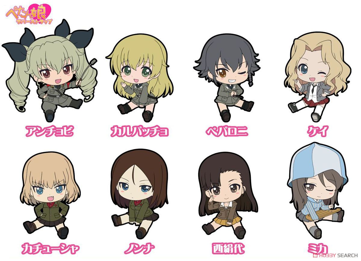 Girls und Panzer das Finale Petanko Trading Rubber Strap Vol.3 (Set of 8) (Anime Toy) Item picture9