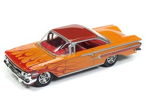 Racing Champions Mint - Release 2- RC 1960 Chevy Impala Orange Flames (ミニカー)