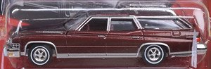 Auto World 1974 Buick Estate Wagon Burgundy Poly (ミニカー)