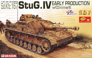 Sd.Kfz.167 StuG.IV Early Production with Zimmerit (Plastic model)