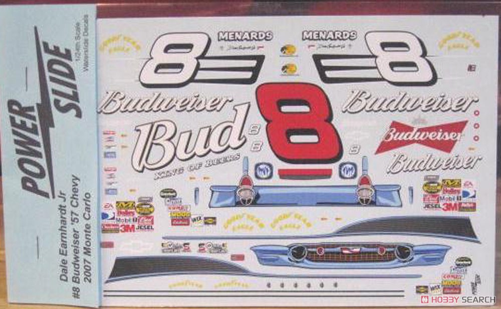 NASCAR Chevy #8 Dale Earnhardt Jr. 2007 (Decal) Item picture1