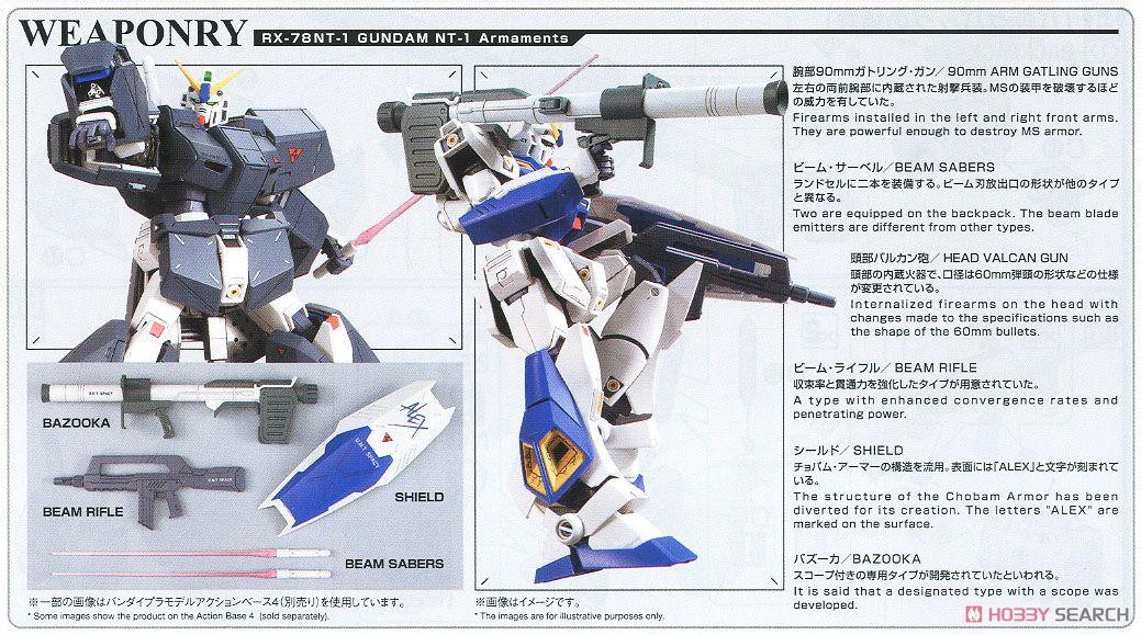 Gundam NT-1 Ver.2.0 (MG) (Gundam Model Kits) About item5