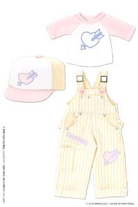 Kinoko Planet [Hatsukoi Otome Overalls Set] (Yellow x Purple) (Fashion Doll)