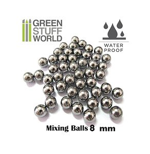 Mixing Paint Steel Bearing Balls in 8mm (Set of 30) (Hobby Tool)