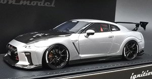 TOP SECRET GT-R (R35) Silver (ミニカー)