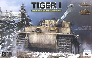German Tiger I Early Production Wittmann`s Tiger w/Full Interior & Clear Parts (Plastic model)