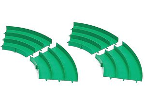 Japan Cup Junior Circuit Curve Section Set (Green) (4 Pieces) (Mini 4WD)