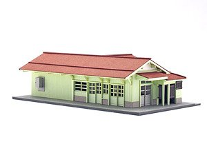 1/150 Scale Paper Model Kit Station Series 22 : Regional Station Building/Ogyu Station Type (Unassembled Kit) (Model Train)