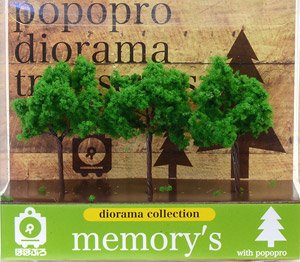 [memory`s] Broad-leaf Green 70mm (3 Pieces) (Model Train)