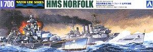 英国重巡洋艦 ノーフォーク 北岬沖海戦 (プラモデル)