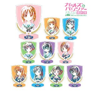 Girls und Panzer Last Chapter Trading Ani-Art Acrylic Stand (Set of 10) (Anime Toy)