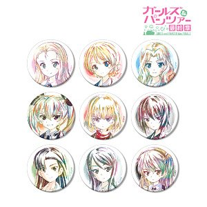 Girls und Panzer Last Chapter Trading Ani-Art Can Badge Vol.2 (Set of 9) (Anime Toy)