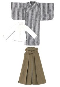 Boy Shosei Set (Black Stripe x Khaki) (Fashion Doll)