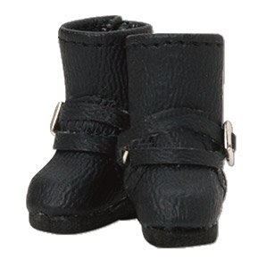 Double Belt Boots (Black) (Fashion Doll)