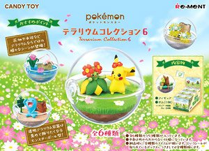 Pokemon Terrarium Collection 2 All 6 species from Japan Re-Ment  6sets SALE