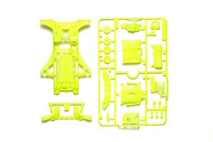 FM-A Fluorescent-Color Chassis Set (Yellow) (Mini 4WD)