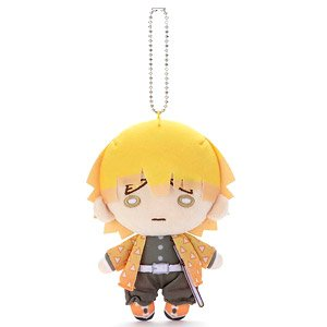 Nitotan Demon Slayer: Kimetsu no Yaiba Plush w/Ball Chain Zenitsu (Anime Toy)