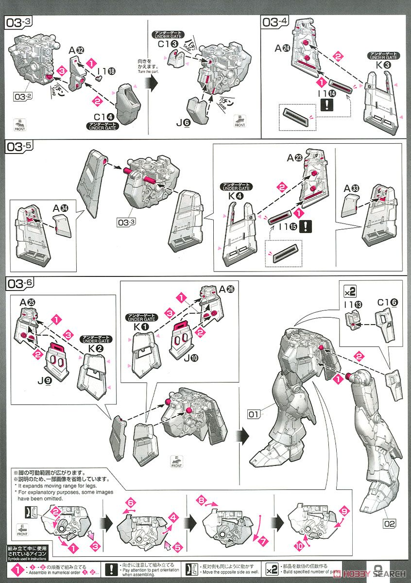 Nu Gundam (RG) (Gundam Model Kits) Assembly guide6