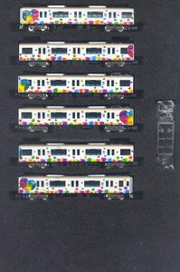 Hanshin Series 9000 (`Taisetsu` ga Gyutto. Wrapping) Six Car Formation Set (w/Motor) (6-Car Set) (Pre-colored Completed) (Model Train)