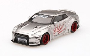 LB Works Nissan GT-R R35 Type I Rear Wing Ver.2 Satin Silver (RHD) (Diecast Car)