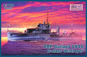 ORP Garland 1944 G-Class Destroyer (Plastic model)