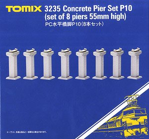 Concrete Pier Set P10 (Set of 8) (Model Train)