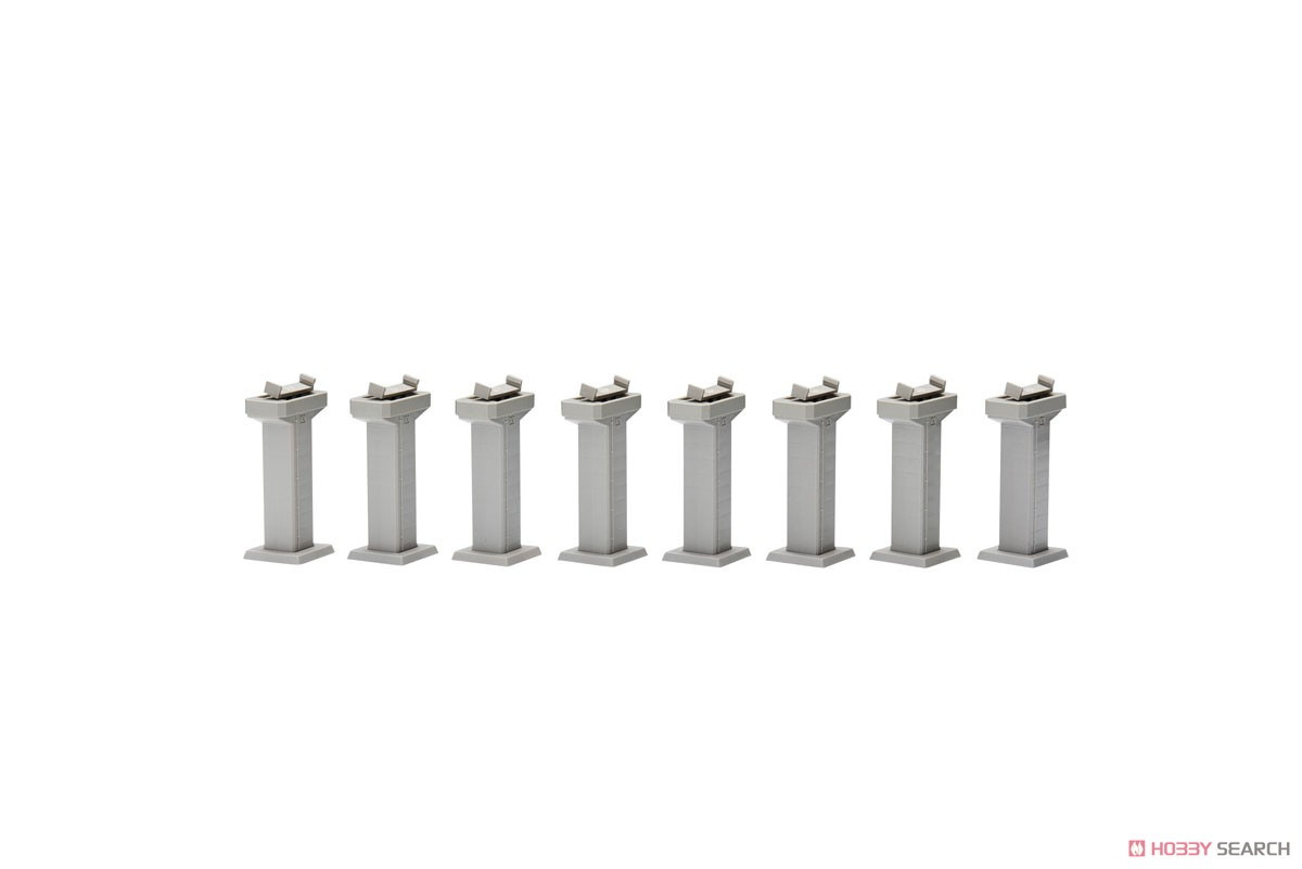 Concrete Pier Set P10 (Set of 8) (Model Train) Item picture1