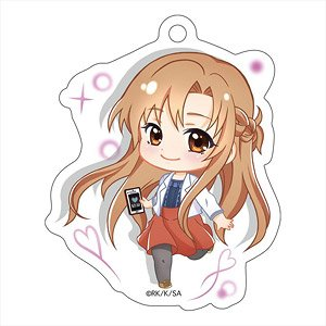 Sword Art Online Alicization Pop-up Character Die-cut Acrylic Key Ring Asuna (Anime Toy)
