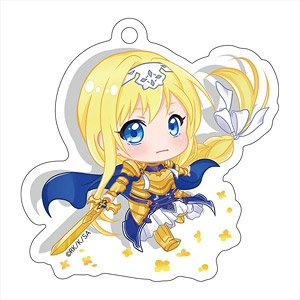 Sword Art Online Alicization Pop-up Character Die-cut Acrylic Key Ring Alice (Integrity Knight) (Anime Toy)