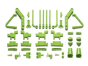 Wr-02CB L/N Parts (Body Mounts/Suspension Arms) (Yellow Green) (RC Model)