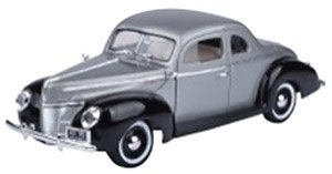 1940 Ford Deluxe (Gray/Black) (ミニカー)