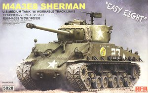 M4A3E8 Sherman w/Workable Track Links (Plastic model)