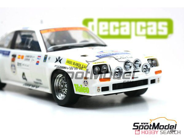 Opel Manta 400 Gr.B Costa Brava Rally 1984 RAC Catalnia Decal Set (Decal) Other picture10