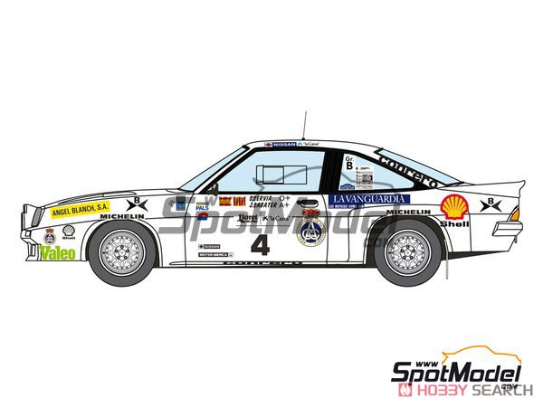 Opel Manta 400 Gr.B Costa Brava Rally 1984 RAC Catalnia Decal Set (Decal) Other picture2