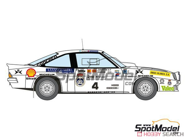 Opel Manta 400 Gr.B Costa Brava Rally 1984 RAC Catalnia Decal Set (Decal) Other picture3